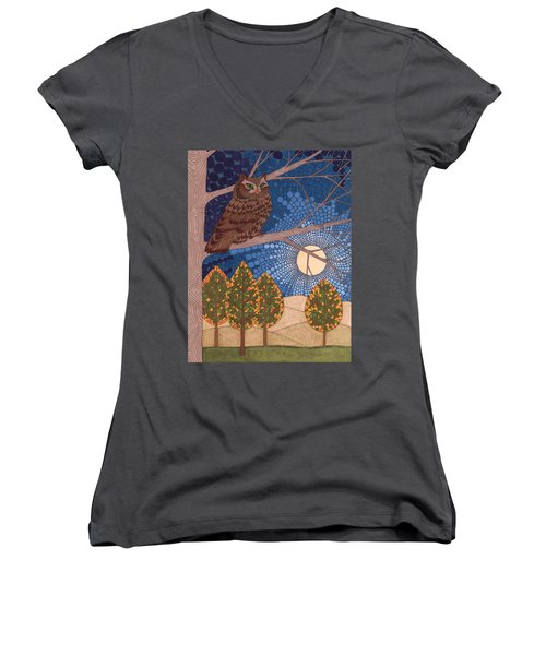 Full Moon Illumination Women's V-Neck (Athletic Fit)
