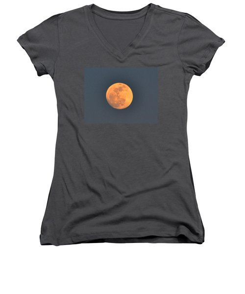 Full Moon Women's V-Neck T-Shirt