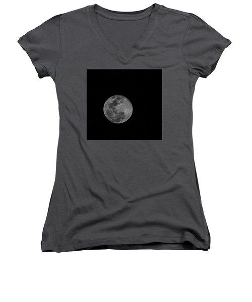 Full Moon Rising Women's V-Neck