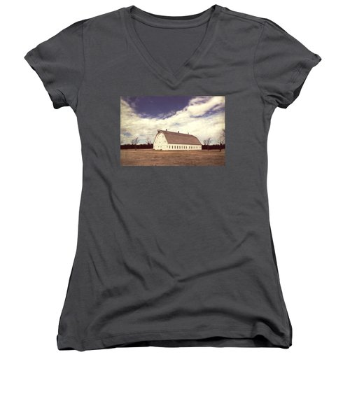 Women's V-Neck T-Shirt (Junior Cut) featuring the photograph Full Of Surprises by Julie Hamilton