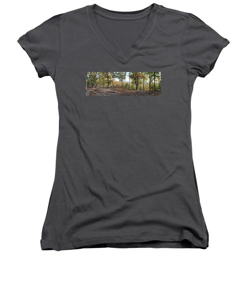 Full Panoramic View From The Summit Of Brown's Mountain Trail Women's V-Neck