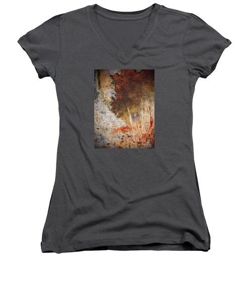 Fun By The Lake Women's V-Neck T-Shirt (Junior Cut) by William Wyckoff