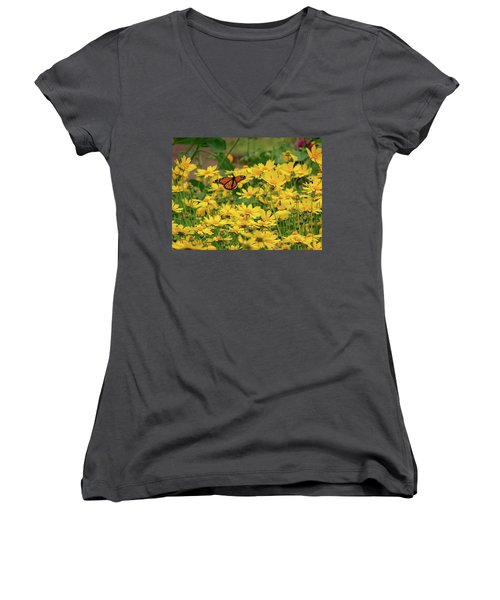 Funchal Maderia Monarch Women's V-Neck T-Shirt