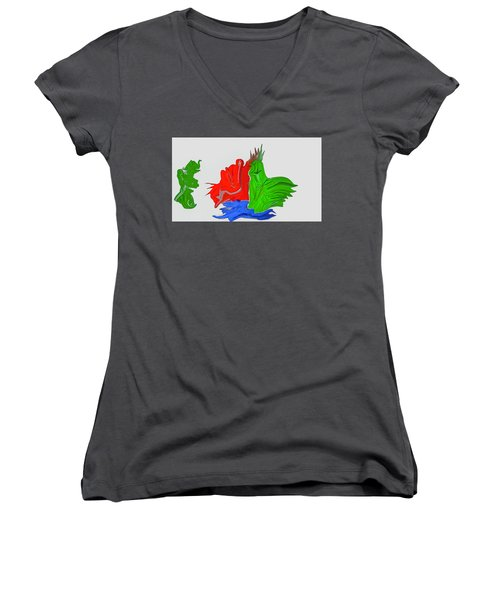 Funny Figures #h7 Women's V-Neck