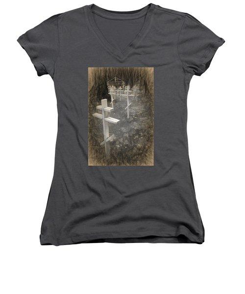 Funter Bay Markers Women's V-Neck T-Shirt