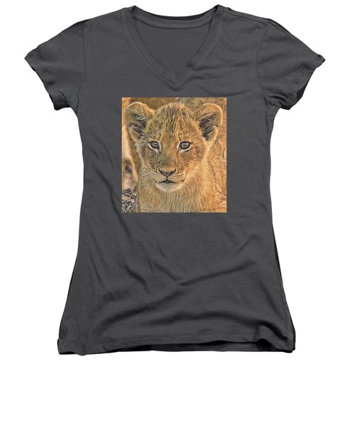 Fuzzy Cubby Women's V-Neck (Athletic Fit)