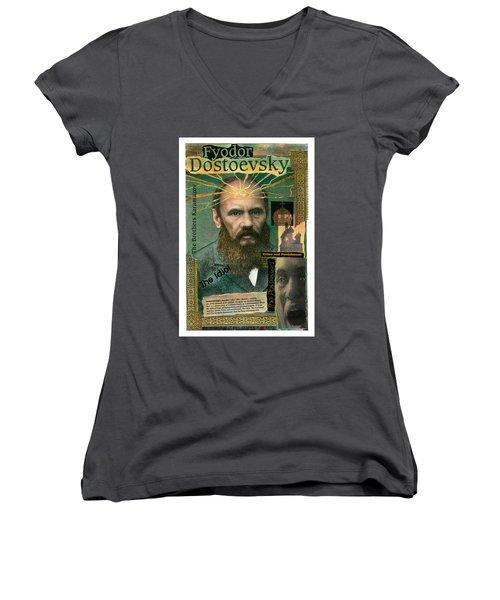 Fyodor Dostoevsky Women's V-Neck (Athletic Fit)