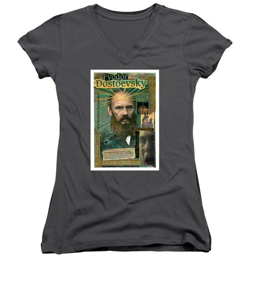 Fyodor Dostoevsky Women's V-Neck (Athletic Fit)