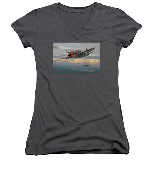 Gabby's Razorback Women's V-Neck T-Shirt
