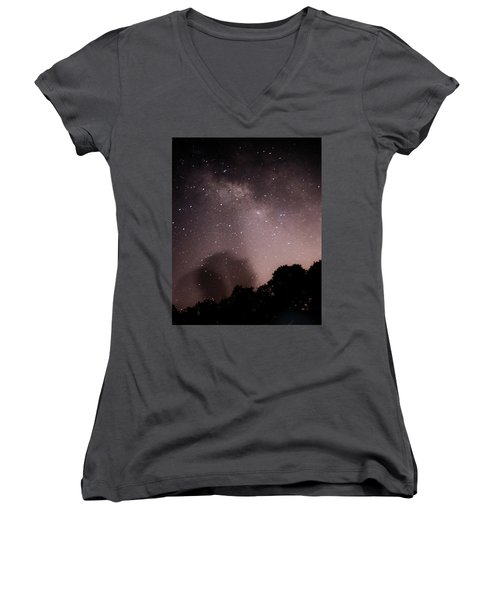 Galaxy Beams Me Women's V-Neck (Athletic Fit)