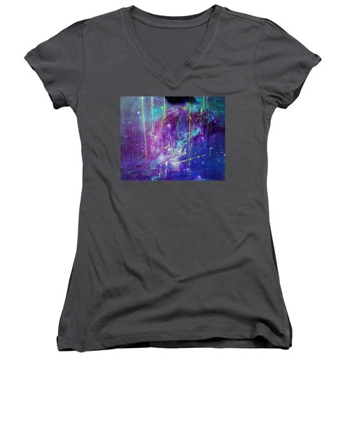 Galaxy In Motion Women's V-Neck (Athletic Fit)
