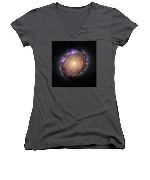 Galaxy Ngc 1512 Women's V-Neck T-Shirt
