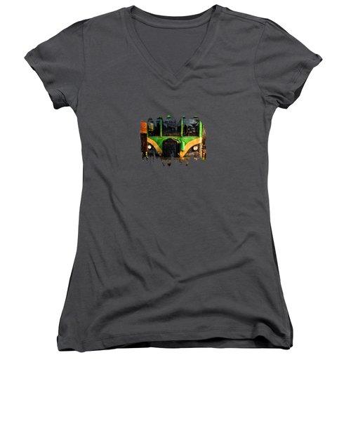 Galloping Goose Women's V-Neck T-Shirt (Junior Cut) by Thom Zehrfeld