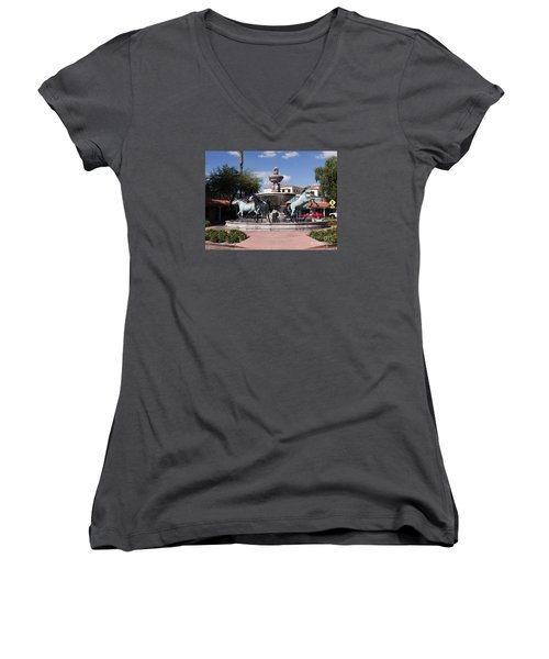 Horses With Vitality And Charm Women's V-Neck