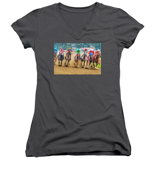 Galloping Women's V-Neck (Athletic Fit)