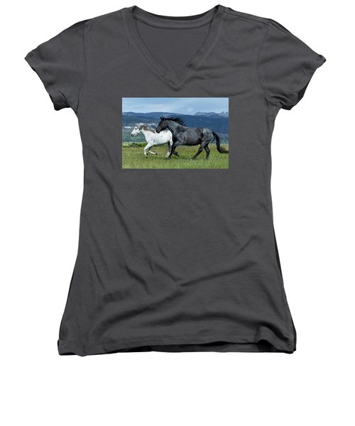 Galloping Through The Scenery Women's V-Neck