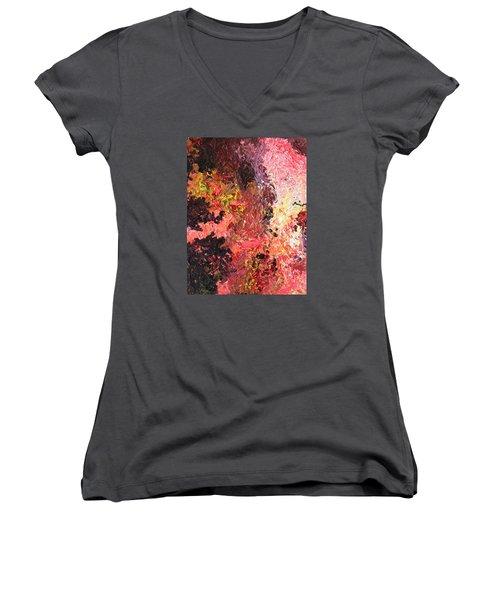 Ganesh In The Garden Women's V-Neck T-Shirt (Junior Cut) by Ralph White