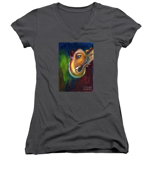 Ganesha Women's V-Neck
