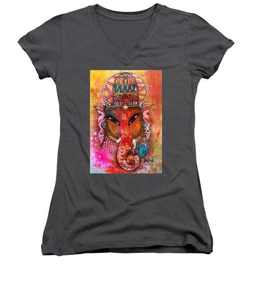 Ganesha Women's V-Neck