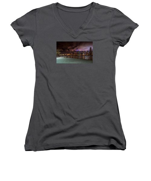 Gantry Park Women's V-Neck T-Shirt (Junior Cut) by Rafael Quirindongo