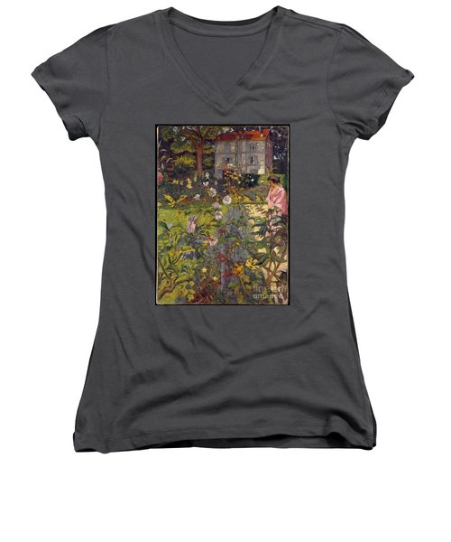 Garden At Vaucresson Women's V-Neck