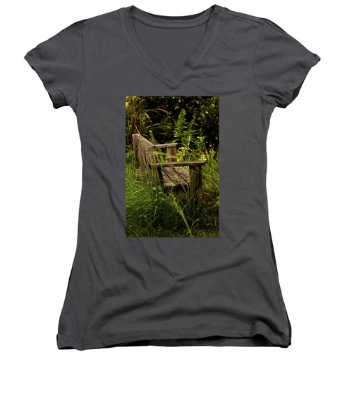 Garden Bench Women's V-Neck