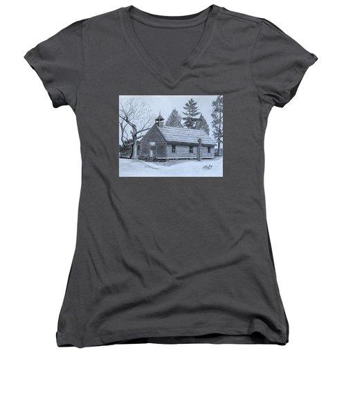 Garden Creek Baptist Church  Women's V-Neck T-Shirt (Junior Cut) by Tony Clark