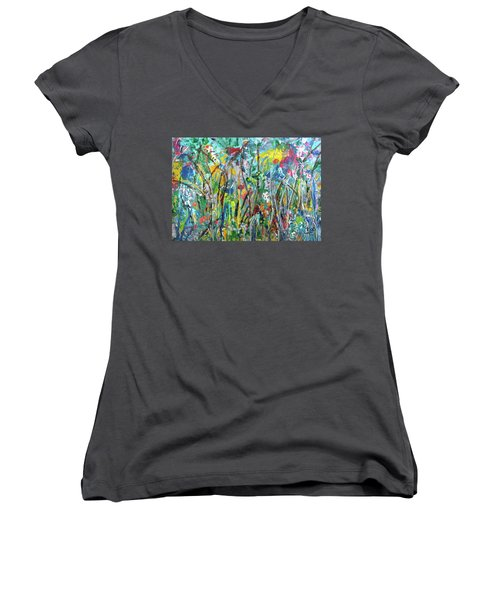 Garden Flourish Women's V-Neck