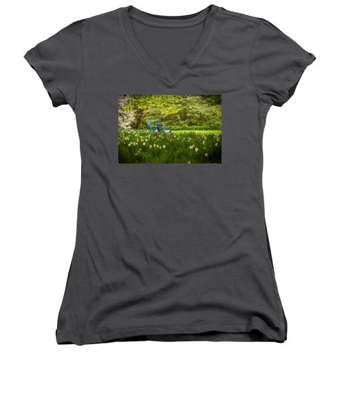 Garden Seats Women's V-Neck