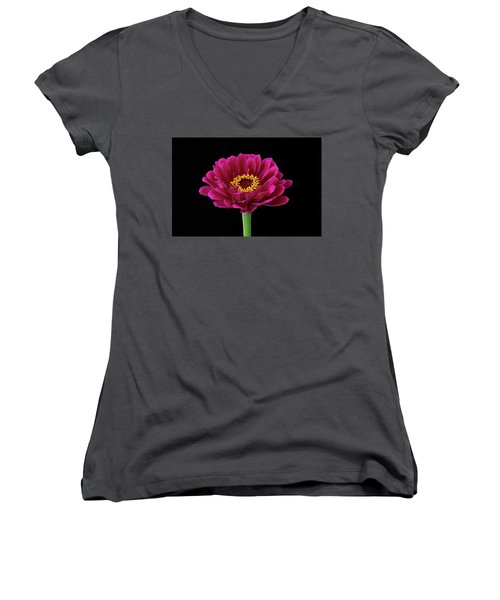 Garden Zinnia Women's V-Neck (Athletic Fit)