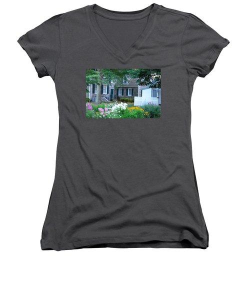 Gardens At The Burton-ingram House - Lewes Delaware Women's V-Neck T-Shirt