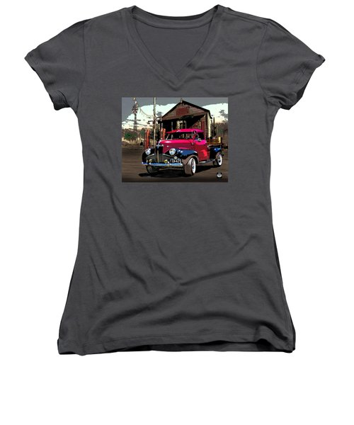 Gassed Up And Ready Women's V-Neck (Athletic Fit)