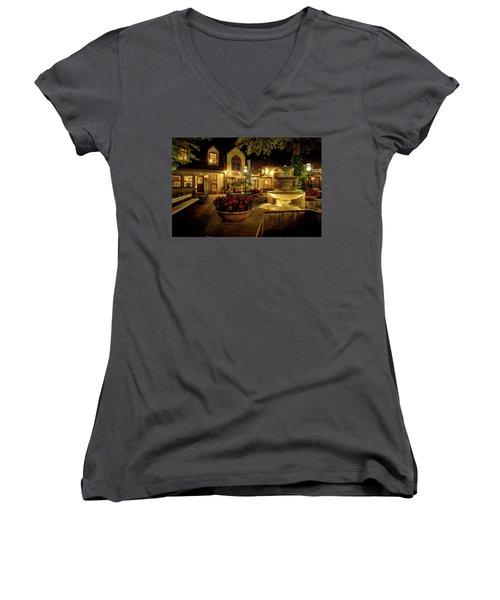 Gatlinburg 2 Women's V-Neck T-Shirt (Junior Cut) by Mike Eingle