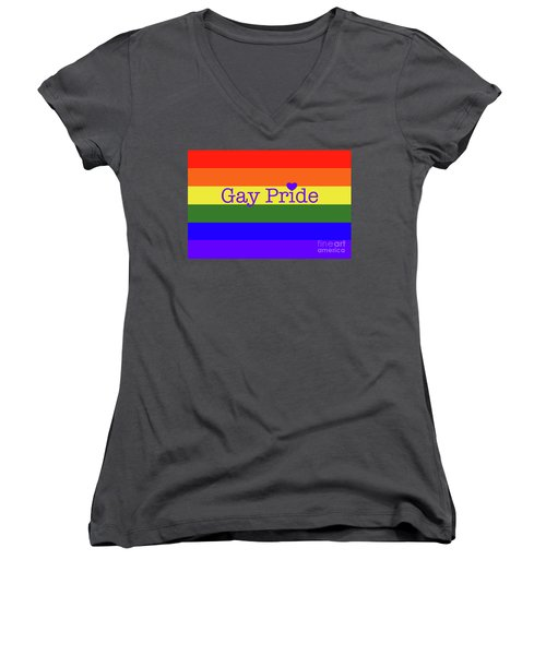 Gay Pride Love Women's V-Neck (Athletic Fit)
