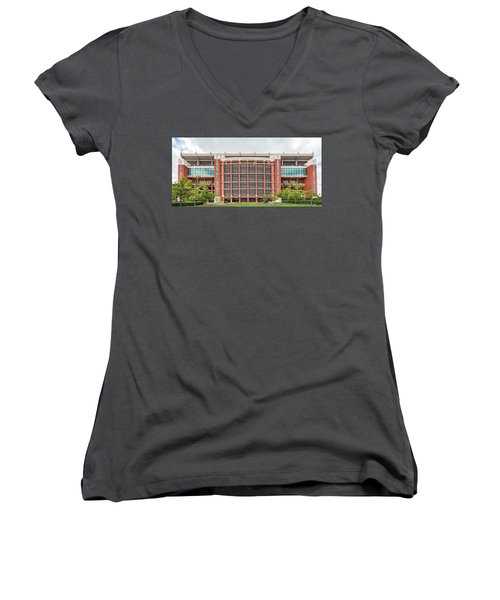 Gaylord Family Oklahoma Memorial Stadium Women's V-Neck (Athletic Fit)