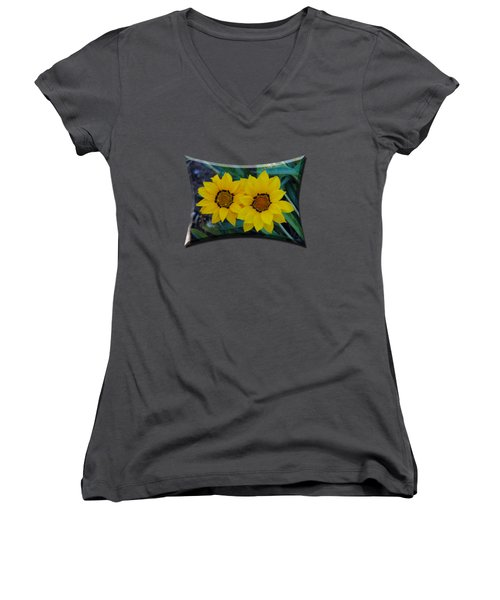 Gazania Rigens - Treasure Flower T-shirt Women's V-Neck (Athletic Fit)