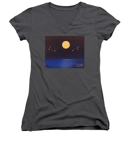Gemini And Leo Women's V-Neck T-Shirt