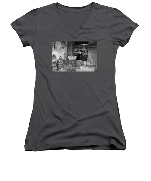 General Store Women's V-Neck T-Shirt (Junior Cut) by Inspirational Photo Creations Audrey Woods