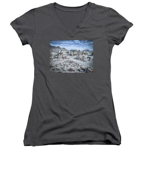 General Store Women's V-Neck T-Shirt (Junior Cut) by Mark Dunton