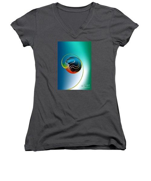 Genesis Women's V-Neck T-Shirt (Junior Cut) by Leo Symon