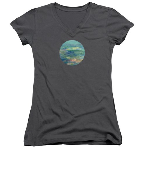 Gentle Light On The Water Women's V-Neck T-Shirt (Junior Cut) by Mary Wolf