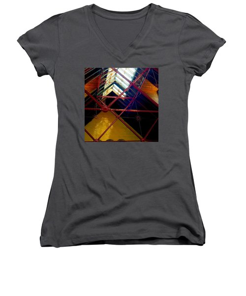 Geometric And Suns  Women's V-Neck T-Shirt (Junior Cut)