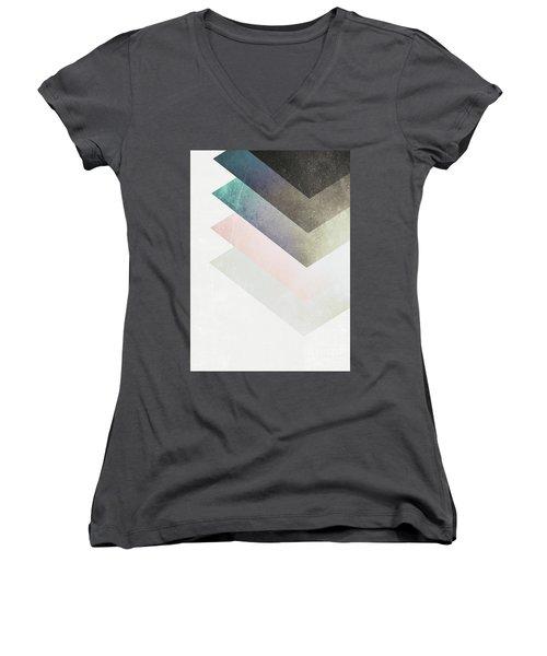 Geometric Layers Women's V-Neck