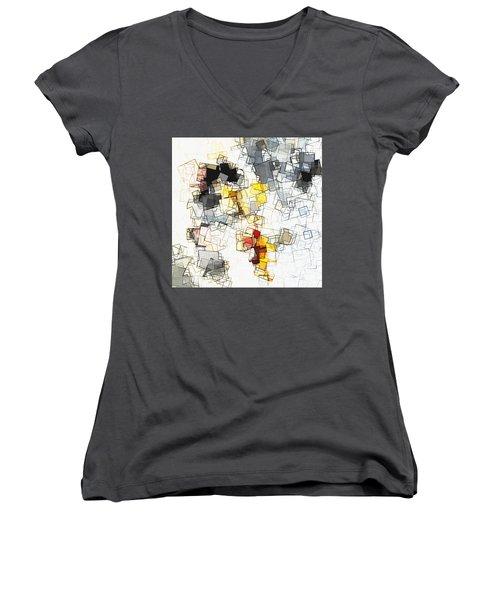 Geometric Minimalist And Abstract Art Women's V-Neck T-Shirt (Junior Cut) by Ayse Deniz
