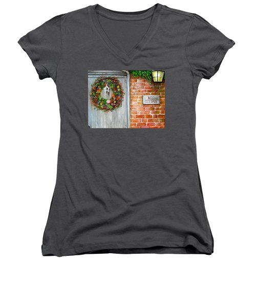 George Michaels Mill Cottage Women's V-Neck T-Shirt