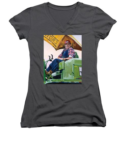 George The Artist Women's V-Neck (Athletic Fit)