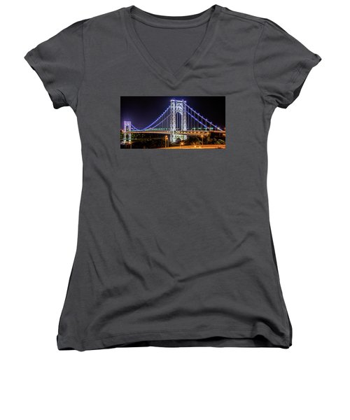 George Washington Bridge - Memorial Day 2013 Women's V-Neck