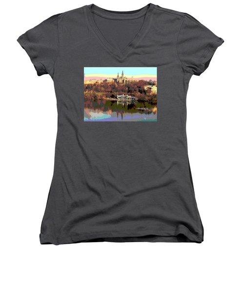 Georgetown University Crew Team Women's V-Neck T-Shirt