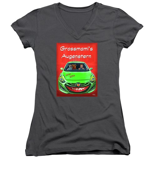 Women's V-Neck T-Shirt featuring the photograph Teddy Transportation by Hanny Heim
