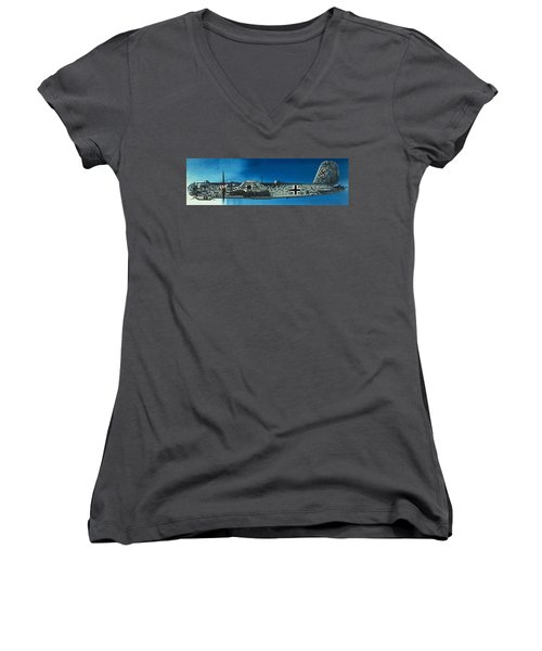German Aircraft Of World War  Two Focke Wulf Condor Bomber Women's V-Neck (Athletic Fit)